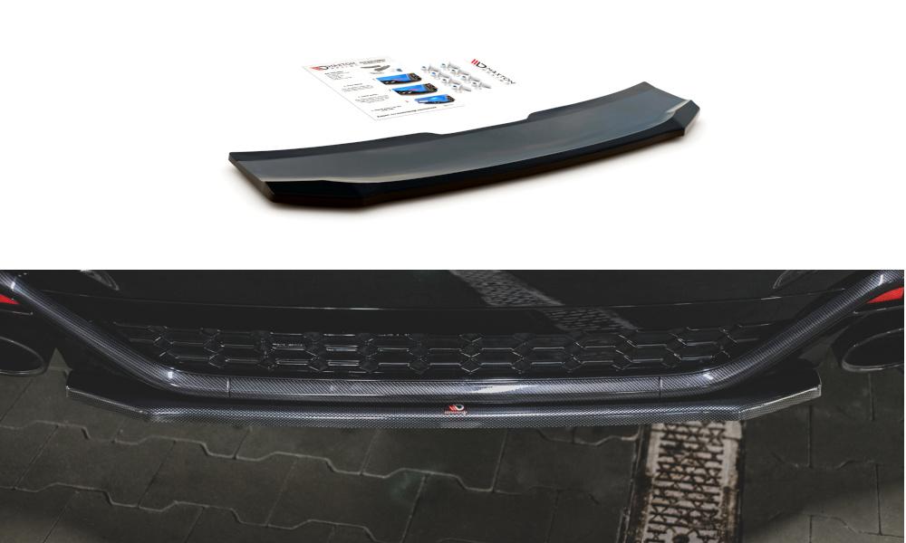 SPLITTER TYLNY ŚRODKOWY AUDI RS5 F5 FACELIFT - GRUBYGARAGE - Sklep Tuningowy